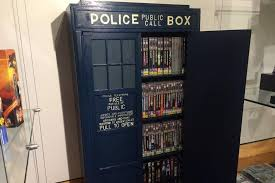 Dr Bookcase Dr Who Tardis Bookshelf Part Of Record Attempt Abc News