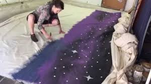 painting a night sky mural for the backdrop of children s theatre painting a night sky mural for the backdrop of children s theatre production day 2 youtube