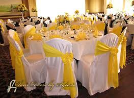 yellow chair sashes yellow and silver wedding theme ties sashes for rental in