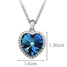 heart necklace from titanic images Titanic heart of the ocean blue crystal necklace girlfriend gift jpg