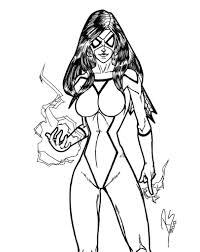 spider woman coloring pages eume omeletta