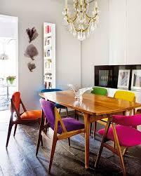 sedie da sala da pranzo creative ordinette sedie colorate nella sala da pranzo