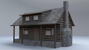 Rustic Cabin Rustic Cabin 3d Asset Cgtrader