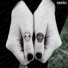 finger tattoo stickers temporary tattoo emotional skull for fingers arms body tattoo