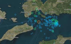 Turkey Greece Map by Turkey And Greece Map Earthquake Mapped Kos Bodrum Greek