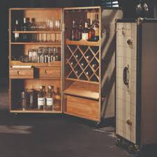 Trunk Bar Cabinet Authentic Models Mf134 Black Walnut Grand Club Trunk Bar Cabinet
