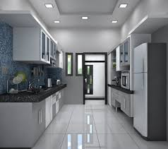 Dado Tiles For Kitchen The Kitchen With Monochrome Color Appearance Two Side Kitchen
