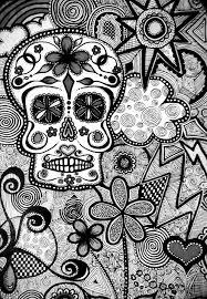 halloween background sugar skulls black and white candy skull wallpaper kc art journaling