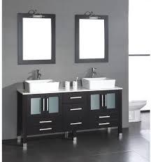 Bathroom With Two Separate Vanities by Bathroom Sink Double Sink Vanity Trough Sink Vanity Glass Bowl