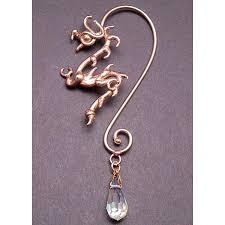 ear wrap ear wrap in bronze with drop non piercing ear jewelry