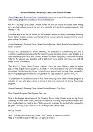 create free resume and cover letter resume cover letter creator frizzigame jimmy sweeney resume free resume example and writing download