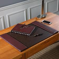 Brown Leather Desk Accessories Interior Design Desk Pad Wood Desk Protector Covering A Desk