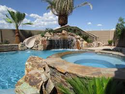 outdoor u0026 garden excellent tropical pools with waterfall and palm