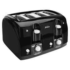 Sunbeam 2 Slice Toaster Sunbeam 4 Slice Extra Wide Slot Toaster Black Tssbtr4sbk Target