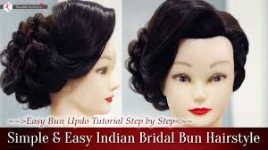 simple u0026 easy indian bridal bun hairstyles step by step perfect