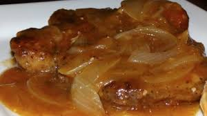 smothered pork chops with onions u0026 gravy recipe youtube