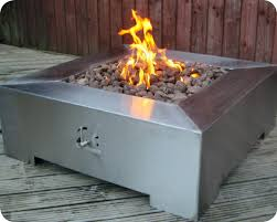 Firepits Co Uk Capella Large Square Portable Steel Gas Pit Firepits Uk