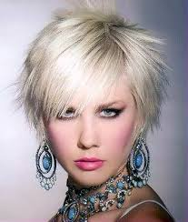 spiked hair with long bangs spiked ash blonde short hairstyle with longer bangs sassy class