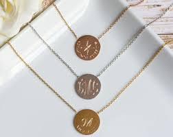 monogrammed jewelry monogram jewelry etsy