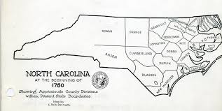 County Map Of Nc Some Early Nc Maps