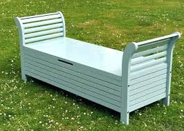 Garden Bench With Storage Garden Storage Bench Probeta Info