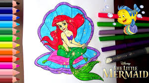 the little mermaid coloring pages for kids the little mermaid