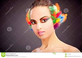 feathers in hair woman with feathers in hair stock image image 34796301