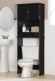 space saving bathroom ideas stylish bathroom above toilet storage with free standing space