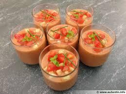 cuisiner concombre gaspacho tomates concombre en verrines recette de cuisine