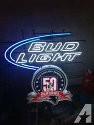bud light neon signs for sale new england patriots 50 years bud light neon sign for sale in lowell