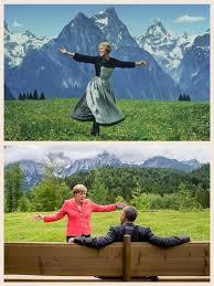 Sound Of Music Meme - the sound of music angela merkel and barack obama at g7 summit