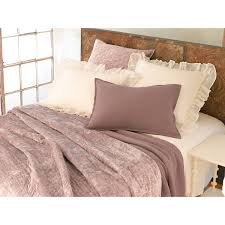 matte velvet dusty plum quilted bedding design by pine cone hill