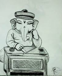 pencil sketch of lord ganesha desipainters com