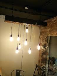 wood beam light fixture wood beam light reclaimed wood beam chandelier with vintage lights