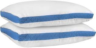 order of pillows on bed amazon com gusseted quilted pillows by utopia bedding blue
