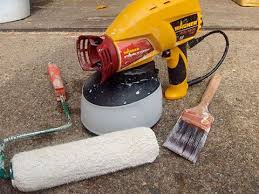 can you use a paint sprayer to paint kitchen cabinets painting tool showdown brush roller vs paint sprayer