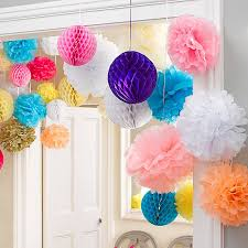 set of three honeycomb hanging decorations by baby company