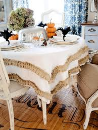 Halloween Fabric Tablecloth Use White Pumpkins To Decorate Your Thanksgiving Table Hgtv U0027s
