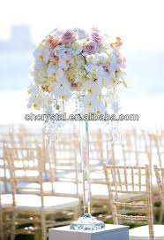 mh 1544 crystal candelabra flower stand tall wedding centerpieces