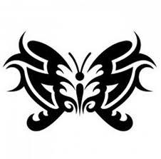 black tribal butterfly gemini design