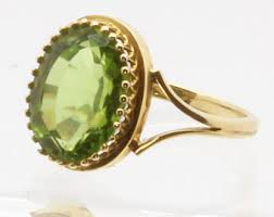 peridot engagement ring peridot engagement ring etsy