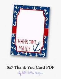 nautical thank you cards printable nautical thank you cards free printable free and cards