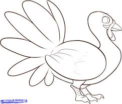 simple drawing of a turkey how to draw a turkey cartoon beginners
