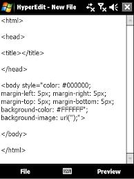 html table mobile friendly hyperedit v1 70 freeware for windows mobile phone