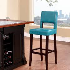 linon home decor vega 30 in agean blue cushioned bar stool