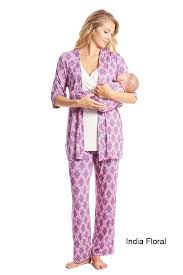 maternity nursing everly grey roxanne 5 pc baby maternity nursing pajama set