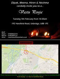 Vastu Invitation Card Vastu Pooja U2013 Tuesday 4th February
