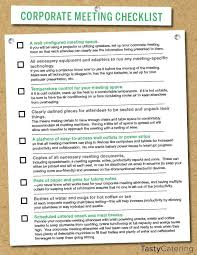 great checklist to help plan for a corporate meeting planning