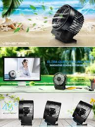 Small Table Fan Souq Amazon Com Desk Usb Fan With Coaxial Rotor Design By Yemenren