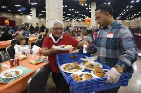 thanksgiving feasts in cater to refugees the homeless the